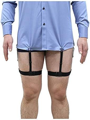 2pcs Mens Elastic Stays Holders Shirt Garter Non-Slip Locking Clamps Uniform