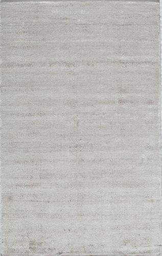 India Silk Rugs - Rugs America Kendall Synthetic Rug, 8' x 10', Brilliant White