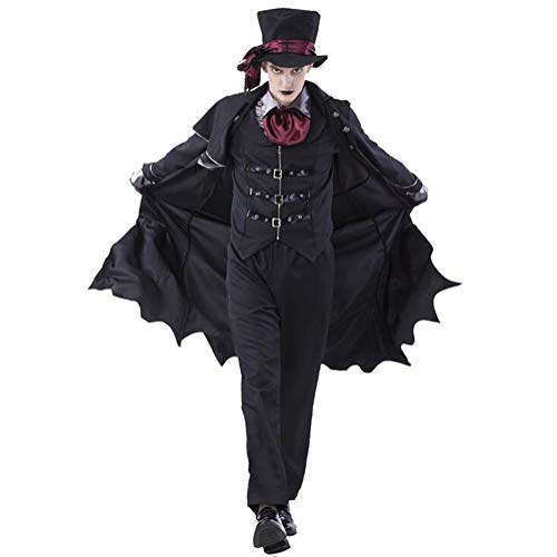SHANGXIAN Adult Vampire Costumes Women Mens Halloween Party Vampiro Couple Cosplay Fancy Outfit Clothing Dresses,Men,M