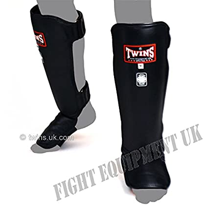 Twins special Blue Slim Padded Shin Guards