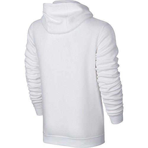 Blanco Nike Fz Club Nsw Homme Hoodie White white Flc Black M Sweat OOwZS8