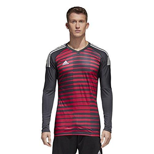 Jersey Graphic Goalkeeping (adidas Mens ADIPRO 18 GoalKeeper Jersey Long Sleeve dark grey/unity pink/white For Soccer)