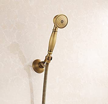 rozin handheld shower head shower hose shower base antique brass