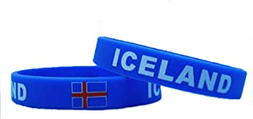 Unisex de bandera de pulsera de goma de silicona país mtong muñequera barrar Iceland: Amazon.es: Deportes y aire libre