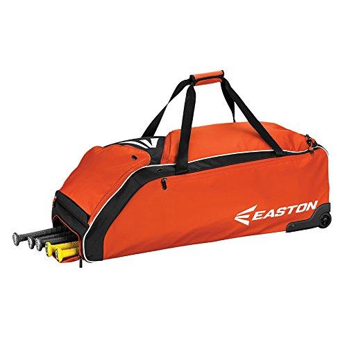 イーストンe610 W Wheeledバッグ野球バッグ B0742CTC1Mオレンジ