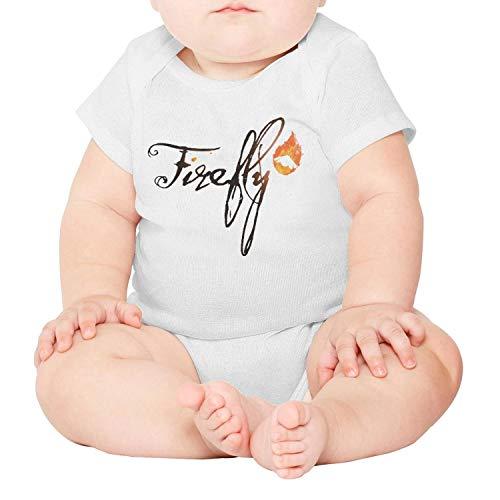 Artisfive Happy Firefly Music Festival Unisex Baby Onesies Infant Short Bodysuit]()