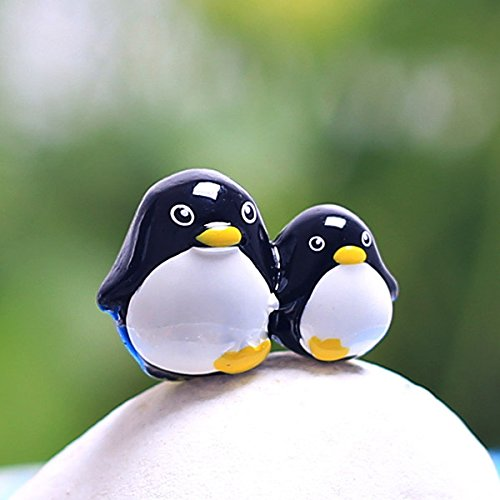 Resin Mini Penguin Micro Landscape Decorations Garden DIY Decor(Random: Pattern)