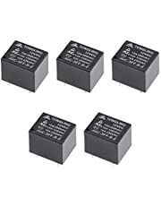 uxcell 5 Pcs JQC-3FF-S-Z DC 12V Coil SPDT 5 Pin PCB Electromagnetic Power Relay
