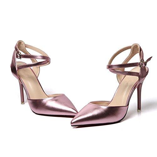BAJIAN LI señoras peep sandalias zapatos zapatos heelsWomen Alto verano bajos Chanclas toe sandalias rdw4qdA