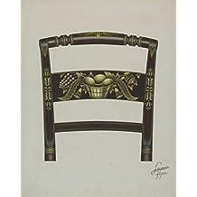 Artist: Lawrence Flynn | Design: Design on Back of Hitchcock Chair | Date: c. 1936 | Vintage Fine Art Print