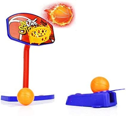 MINI DESKTOP BASKETBALL NET OFFICE TOY KIDS GIFT FLICKER /& BALLS HOOP RING