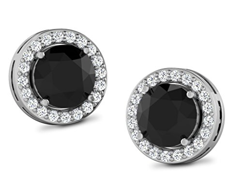 Libertini 1.94 Cts Diamond Round Shape Earrings in 925 Sterling Silver (GH Color, PK Clarity)