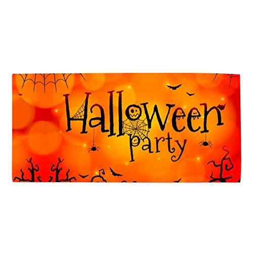 Halloween Paty Show Printed Face Hair or Bath Towel 11.8 × 27.5