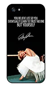 Color.Dream Marilyn Monroe Quotes Style Hard Plastic Back Case Cover Phone Protective Case for iPhone 6 (4.7 inch)