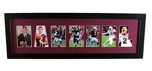 Johnny Manziel Framed Picture Cutout Poster Matted Texas A&M
