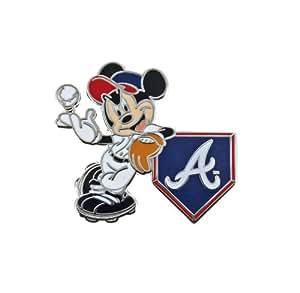 MLB Atlanta Braves Disney Mickey Leaning Collectible Trading Pin