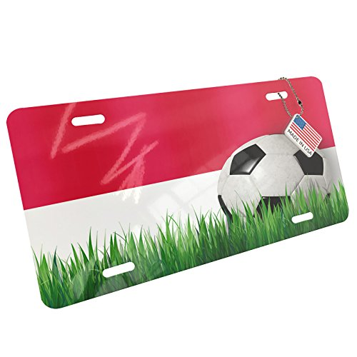Metal License Plate Soccer Team Flag Indonesia - Neonblond by NEONBLOND