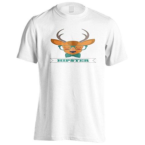 Neue Hirsche Gekleidet Hipster Herren T-Shirt l236m