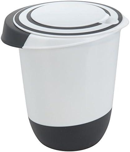Sp/ülmaschinenfest 4-teilig R/ührsch/üssel Set Kunststoff Sch/üssel mit rutschfestem Boden und Deckel
