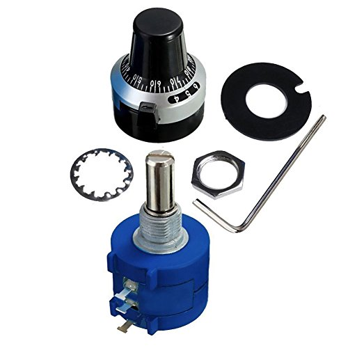 SODIAL(R) 3590S-2-102L 1K Resistor Ohm Rotary Wire wound Precision Potentiometer Pot with 10 Turn Counting Dial Rotary Knob the scale knob set