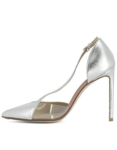 Cuir Femme RUSSO Talons Chaussures FRANCESCO À Argent R1P156N101 SqAxwwRB