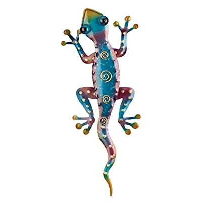 Regal Art & Gift Gecko Decor, Set of 2, Bundle of Rainbow Green and Rainbow Purple Geckos : Garden & Outdoor