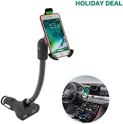 Airena Cargador y Soporte Movil Coche,Soporte de Smartphone para iPhone XR / 8 Plus,Galaxy S9/S8 Edge/Note 9/8, Huawei etc.: Amazon.es: Electrónica