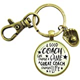 Baseball Coaching Coaching Keychain A Great Coach Changes A Life Quote Thank You Appreciation Gifts For Men Women