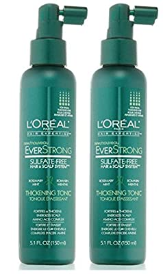 L'Oreal Paris EverStrong Hair Thickening Tonic, 5.1 Fluid Ounce Pack of 2