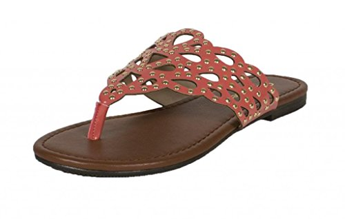 Patent Cut Out Flat Sandal - 8