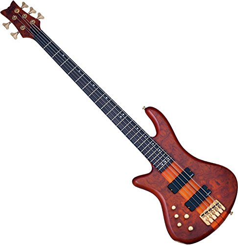 Schecter Stiletto Studio-5 Electric Bass (5 String, Left Handed, Honey Satin)