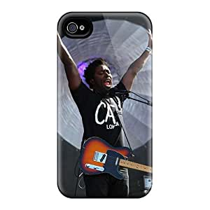 Iphone 4/4s Bloc Party Band Print High Quality Tpu Gel Frame Case Cover