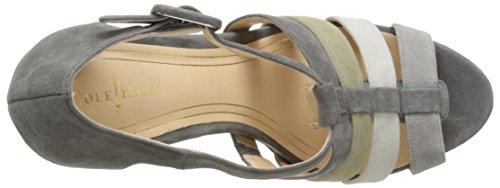 Cole Haan Donna Chelsea T-strap Sandalo Grigio Camoscio
