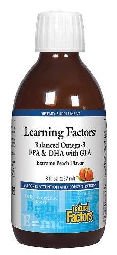 Facteurs équilibré naturelle Kid Facteurs de Omega 3-6-9 liquide Peach Extreme, 8-once