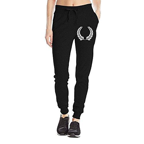 Textured Laurel Wreath Women's Sweatpants Drawstring Training Sports Yoga Jogger Long Pants With Pockets