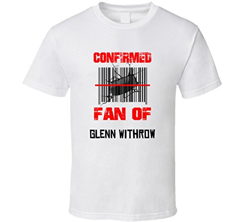 Glenn Withrow NHL Scanned Barcode Fan T shirt XL Off-white