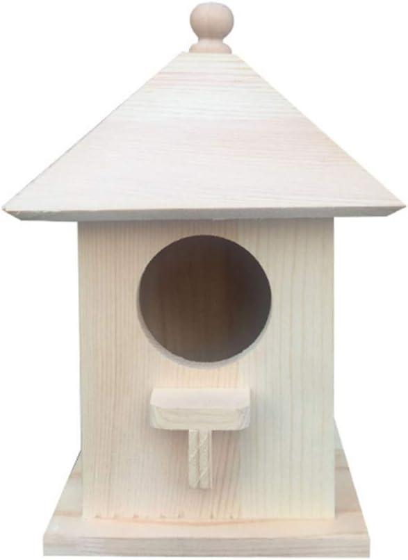 Cabilock Casa de Pájaros de Madera Decorativa Pequeña Casa de Pájaros Adornos de Casa de Pájaros Nido de Pájaro sin Terminar para Accesorios de Fotografía Decoración del Hogar del Jardín