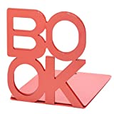 Justdolife 2PCS Metal Bookends Practical Heavy Duty Office Business Bookends