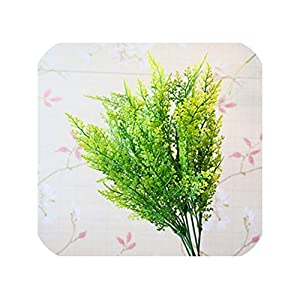 5-Fork Green Grass Artificial Plants for Plastic Flowers Household Store Desk Rustic Decoration Clover Plant Table Decor,05 1