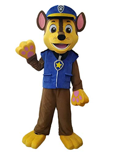 Best Paw Patrol Costumes for Birthday Party Buy Chase Mascot Costume Adults Paw Patrol Chase -