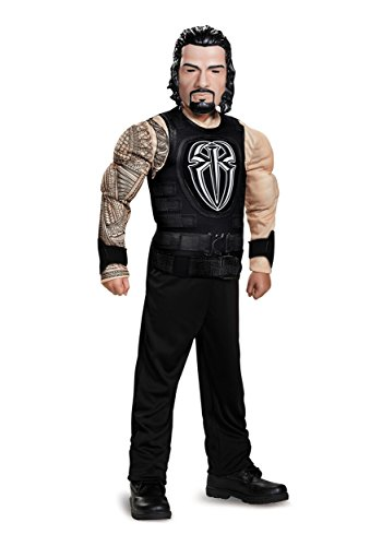 Disguise Roman Reigns Classic Muscle WWE Costume, Black, Medium (7-8) by Disguise