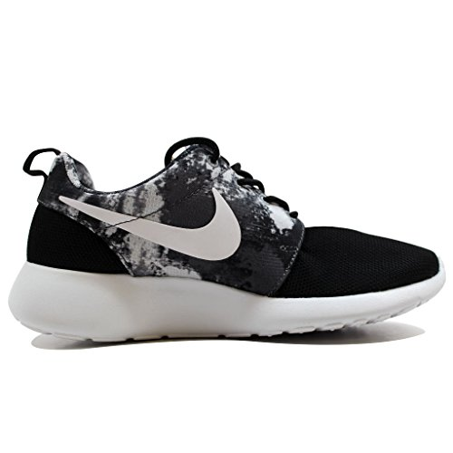 Nike Kvinna Rosherun Print Svart / Vit-cool Grå 599432-010 Sko