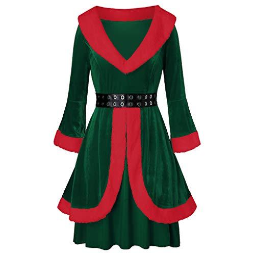 E-Scenery Women Santa Claus Coat Christmas Velvet
