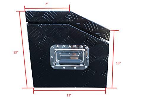 Brait BR302B Aluminum Tool Box for ATV Storage Truck Pickup RV, Black by Brait (Image #3)
