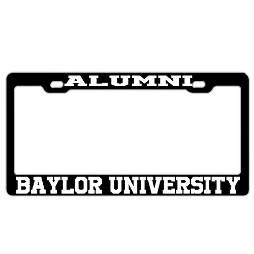 FunnyLpopoiamef Alumni Baylor University Black License Plate Frame,2 Holes Licenses Plates Frames, Stainless Steel Car Licenses Plate Covers Holders for US and Screws -