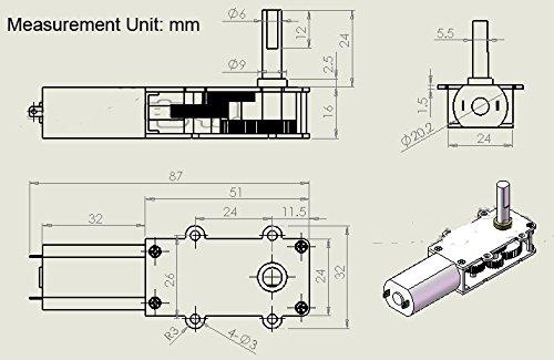 m u0026n gw180 dc 6v 12v small worm gear motor low speed high torque ultra thin slim gear box