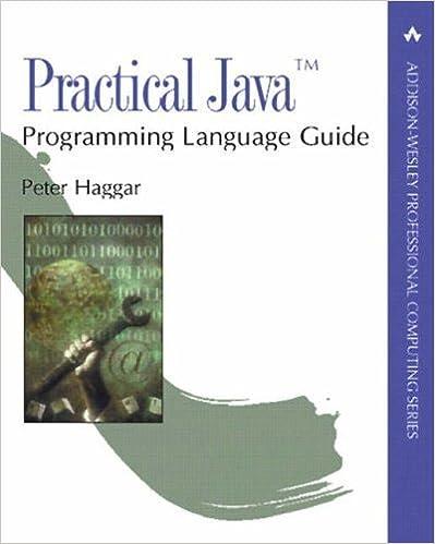 Télécharger des pdfs de livres gratuitement Practical Java? Programming Language Guide 1st edition by Haggar, Peter (2000) Paperback PDF ePub MOBI