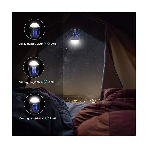 Hisome Lampada Zanzara, 2-in-1 Lampada Anti-zanzara & Lanterna da Campeggio Lampada da Tenda IP67 Antipioggia Bug Zapper… 6 spesavip