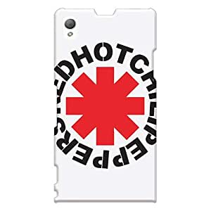 Sony Xperia Z1 Wyy1455uCUC Allow Personal Design Lifelike Red Hot Chili Peppers Skin Bumper Hard Phone Covers -88bestcase