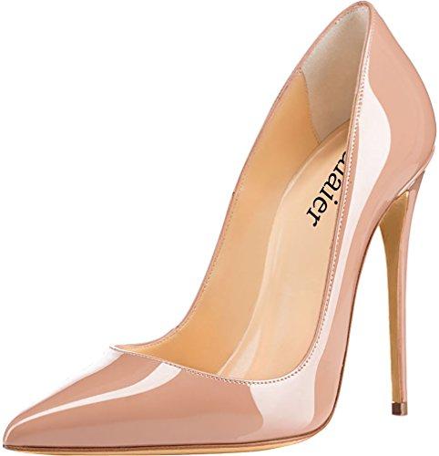 Escarpins Beige Vaneel Chaussures 12cm Sur Aiguille Glisser Cahen Femme 44 FFvqZf